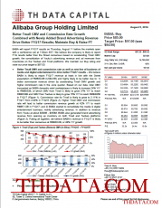 Alibaba Group Holding Limited: Better Tmall GMV and Commission Rate Growth Combined with Newly Added Brand Advertising Revenue Drive Better F1Q17 Results; Maintain Buy & Raise PT